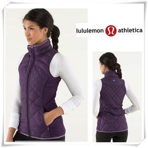 Lululemon Fluff off Down Vest in Purple
